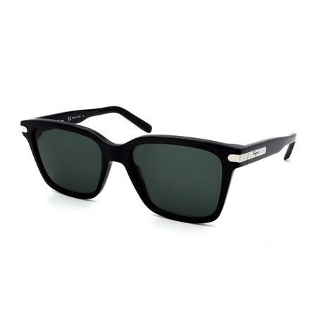 Men's SF917S-001 Rectangular Sunglasses // Shiny Black + Gray