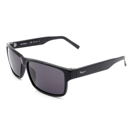 Men's SF960S-001 Rectangular Sunglasses // Shiny Black