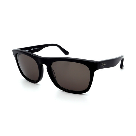 Men's SF776S-001 Rectangular Sunglasses // Shiny Black + Gray