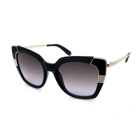 Women's SF889S-057 Sunglasses // Shiny Black + Silver