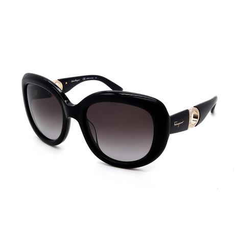 Women's SF727S-001 Sunglasses // Black + Gray Gradient