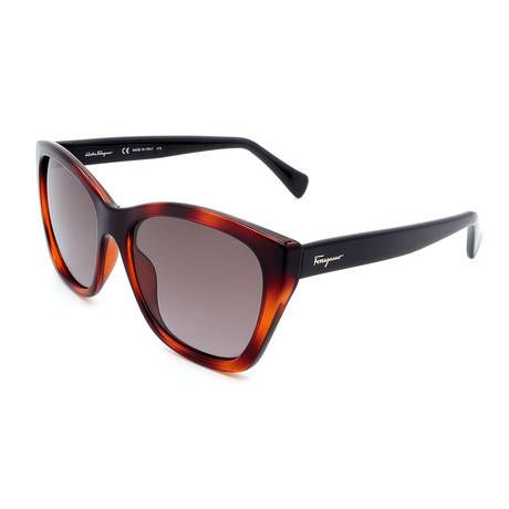 Women's SF957S-214 Cat Eye Sunglasses // Havana + Black
