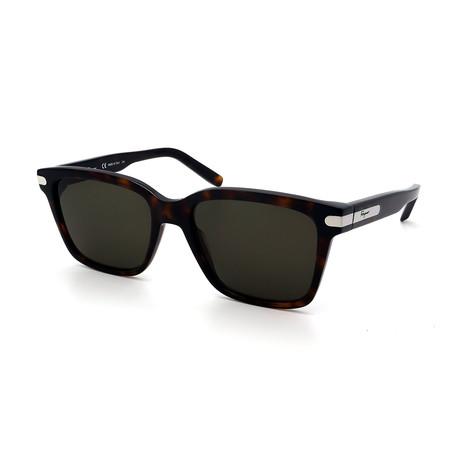 Men's SF917S-214 Rectangular Sunglasses // Dark Havana + Green + Silver