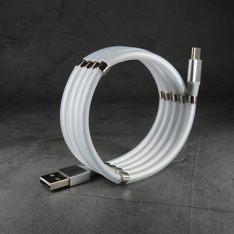 Fidget Cable // Smoke White (Apple Lightning // 3.3 ft)