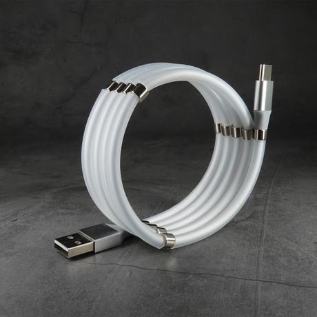 Anti-Tangle Cable // Smoke White (Apple Lightning // 3.3 ft)