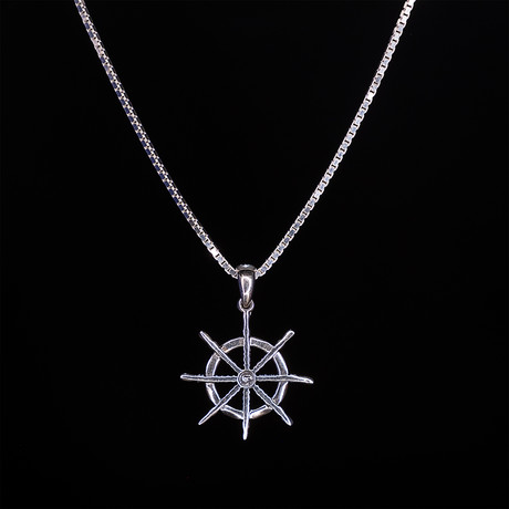 Dell Arte // Lucky Wheel Necklace // Silver