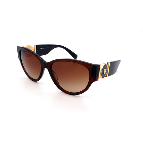 Women's GV4368-530813 Cat Eye Sunglasses // Brown