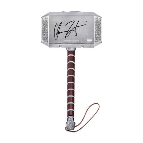 Chris Hemsworth // Autographed 1:1 Scale Thor's Hammer Replica