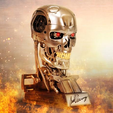 Arnold Schwarzenegger // Autographed Terminator T-800 Endoskeleton 1:1 Scale Bust