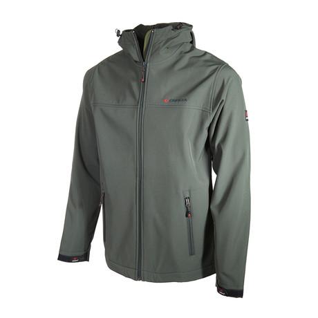 Hooded Zip Up Jacket // Khaki (S)