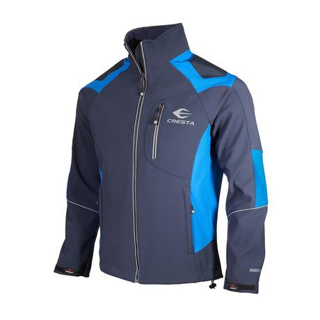 Color-Block Cresta Zip Jacket // Dark Blue (S)