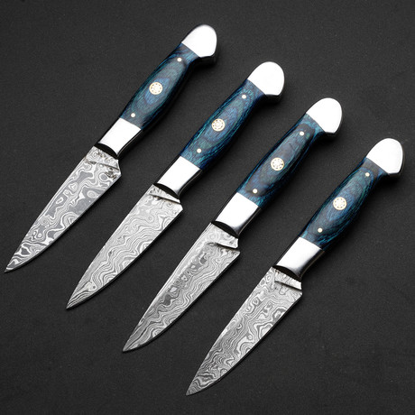 Wilderness of Blue Chef Steak Knives // Set of 4