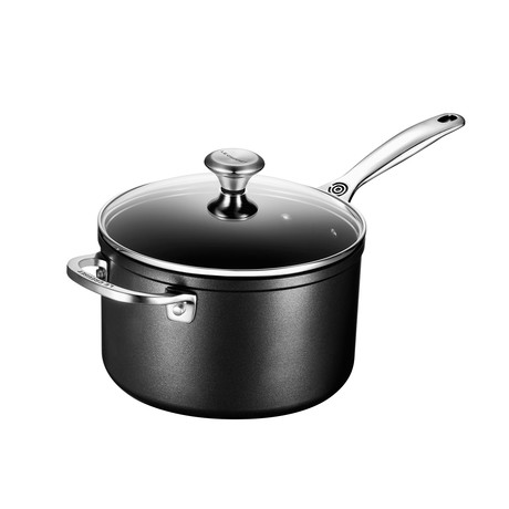 Toughened Nonstick Pro Saucepan + Glass Lid (2 qt.)