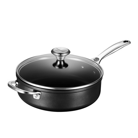 Toughened Nonstick Pro Sauté Pan + Helper Handle + Glass Lid // 4.25 qt.