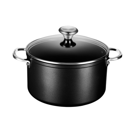 Toughened Nonstick Pro Stockpot + Glass Lid // 6.3 qt.