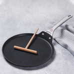 "Toughened Nonstick Pro Crepe Pan + Rateau // 11"""
