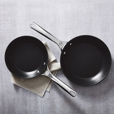 "Toughened Nonstick Pro Fry Pans // 2 Piece Set (8"" + 10"")"