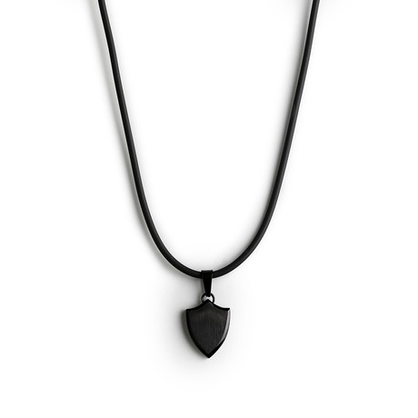 Silicone Amulet Necklace // Black