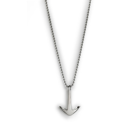 Steel Anchor Necklace // Silver