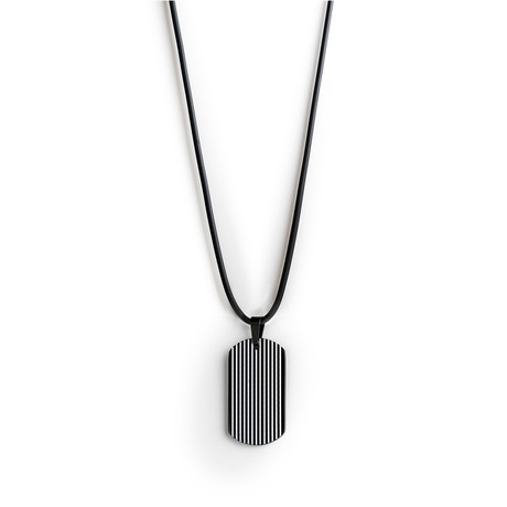 Silicone Tag Necklace // Black