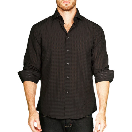 Fallon Button-Up Shirt // Black (S)