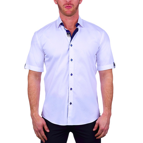 Square Short-Sleeve Dress Shirt // White (S)
