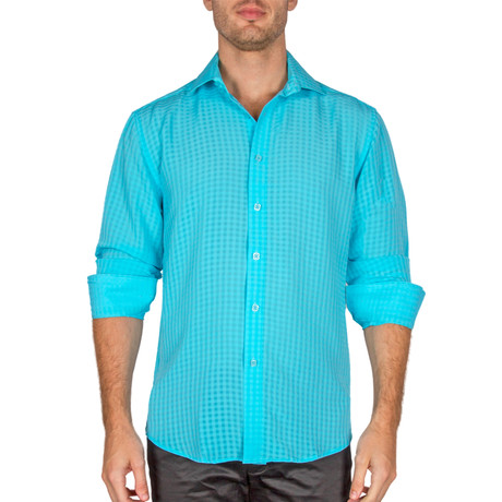 Fallon Button-Up Shirt // Turquoise (S)