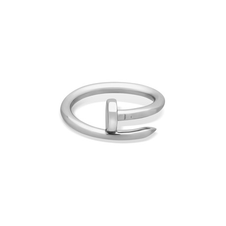 Cartier 18k White Gold Juste Un Clou Ring // Ring Size: 7 // Pre-Owned