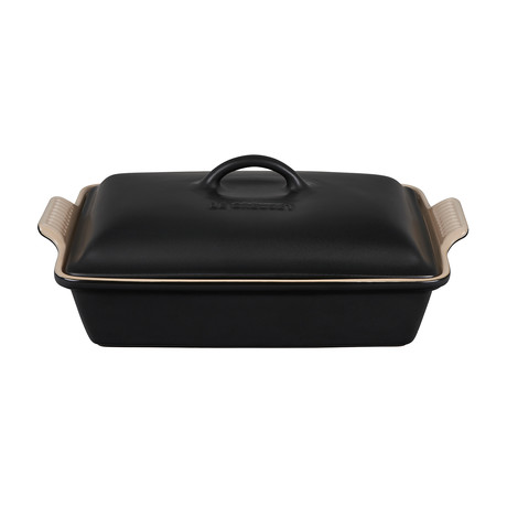 Heritage Covered Rectangular Casserole Dish // 4 qt. (Licorice)