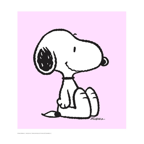 Peanuts // Snoopy // Pink // Limited Edition Artwork (Art Print)