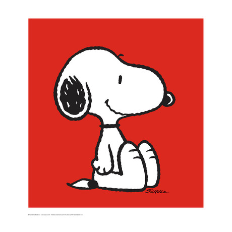 Peanuts // Snoopy // Red // Limited Edition Art Print (Art Print)