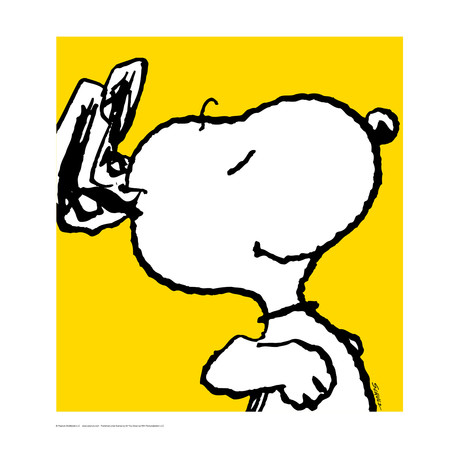 Peanuts // Snoopy // Yellow // Limited Edition Artwork (Art Print)