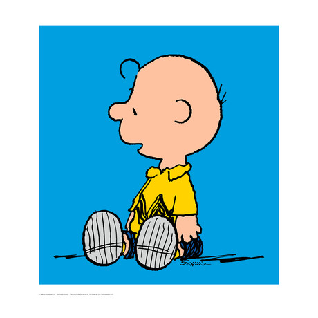 Peanuts // Charlie Brown // Blue // Limited Edition Artwork (Art Print)