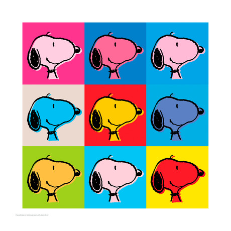 Peanuts // Snoopy Goes Pop! // Limited Edition Artwork (Art Print)
