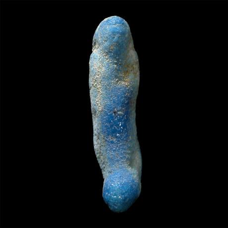 Small Egyptian Blue Ushabti // Burial Figure // Late Dynastic Period