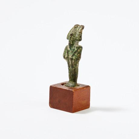 Egyptian Bronze Figurine of Osiris // God of the Underworld
