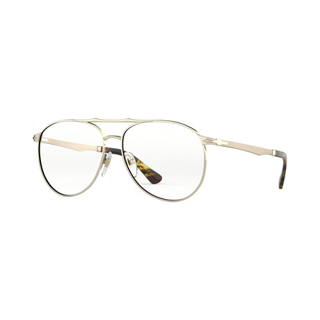 Persol // Men's Aviator Metal Optical Frames // Gold