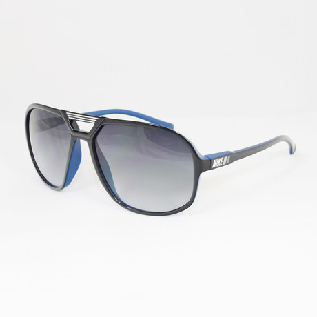 Unisex EV0658-041 Vintage MDL90 Sport Sunglasses // Black + Court Blue