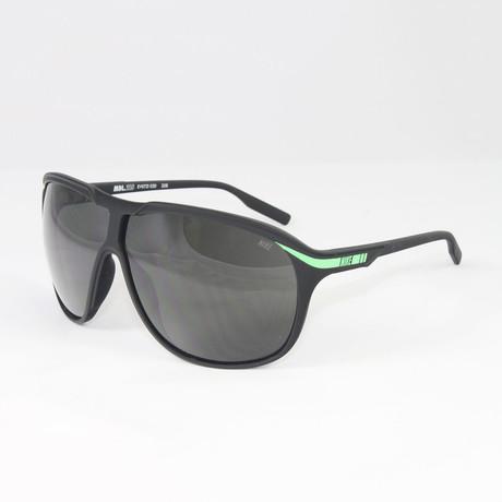 Unisex EV0721-030 MDL215 Sport Sunglasses // Black Poison + Green