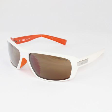 Unisex EV0642-102 Mute Sport Sunglasses // White + Mandarin
