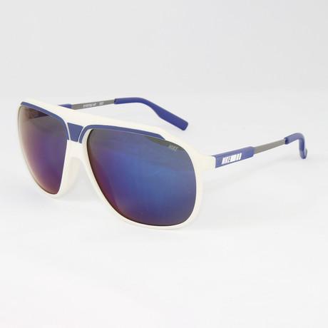 Men's EV0726-147 MDL240 Sport Sunglasses // White + Deep Royal Blue