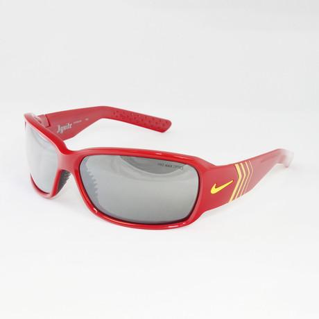 Men's EV9318-601 Ignite Sport Sunglasses // Red + Yellow