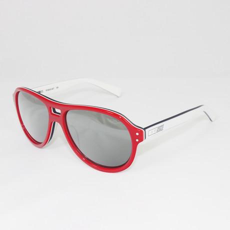 Unisex EV0633-607 Vintage 81 Sport Sunglasses // Red + White