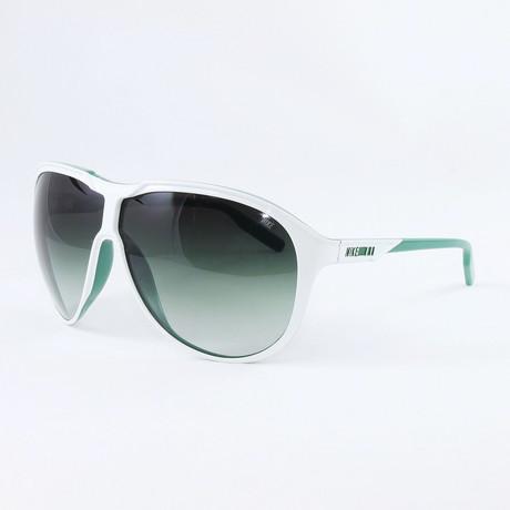 Unisex EV0720-133 MDL 210 Sport Sunglasses // White + Pine Green