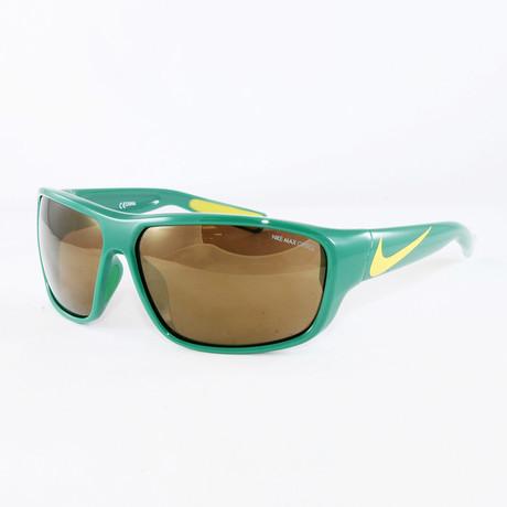 Men's EV0892 Sport Sunglasses // Pine Green + Yellow Strike