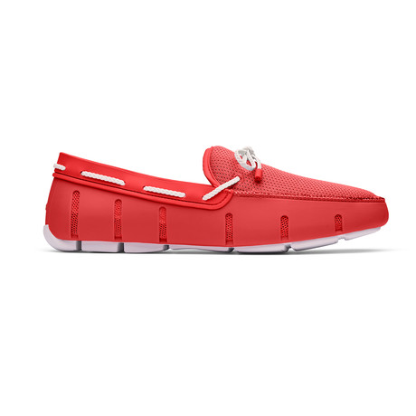 Braided Lace Loafer // Red Alert + White (US: 7)