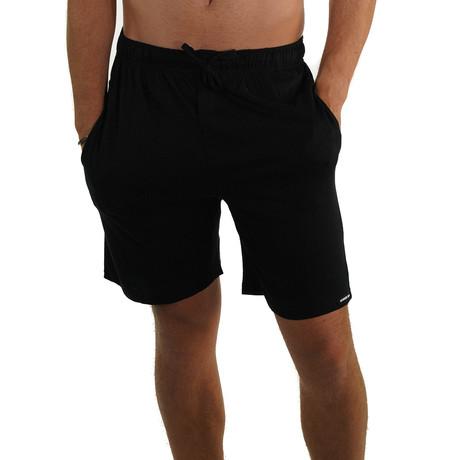 Cotton Jersey Sleep Short // Black (S)