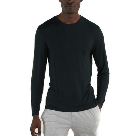 Rayon Long Sleeve Sleep Shirt // Black (S)