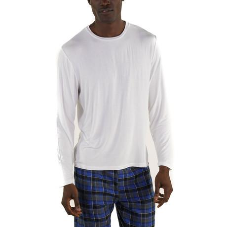 Rayon Long Sleeve Sleep Shirt // White (S)