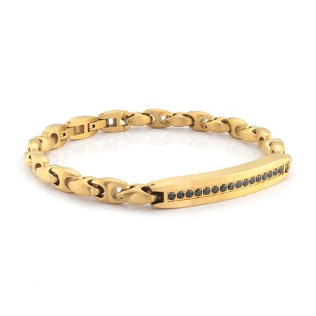 Stainless Steel Polished Link Bracelet // Gold Plating
